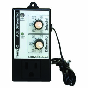 Grozone TP2- Temp-2 Adjustable Differential Tempstat
