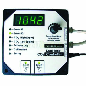 Grozone CO2D- 0-5000 PPM Dual Zone CO2 Controller
