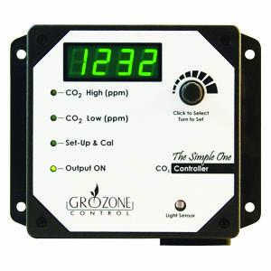 Grozone SCO2- Single Output 0-5000 PPM CO2 Controller
