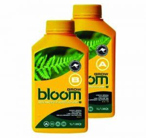 bloom grow b yellow bottles