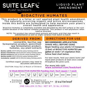 bioactive humates label